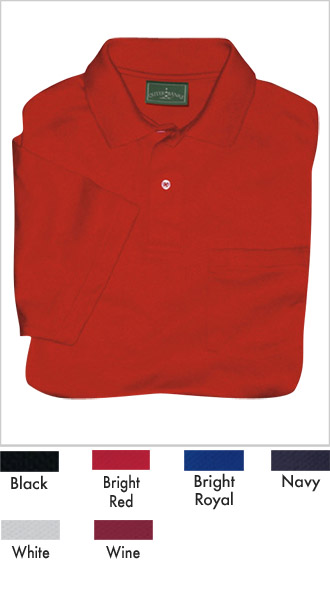 Mens Discount Jersey Sport Pocketed Polo Shirt