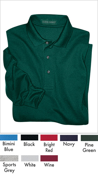 Mens Long Sleeve Black Golf Shirt