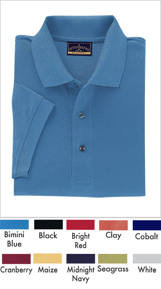 Double Mercerized Pima Pique Golf Shirt - Click Image to Close