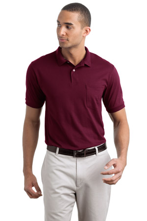 Stedman® by Hanes® – Jersey Knit Sport Shirt wit - Click Image to Close