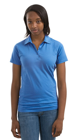 District Threads® - Junior Ladies Perfect Weight Jersey Pol