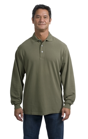 Port Authority® - Long Sleeve Pique Knit Sport Shirt. K320.