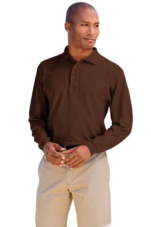 Port Authority® - Silk Touch™ Long Sleeve Sport Shirt.