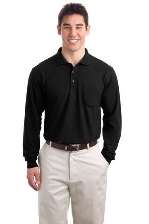 Port Authority® - Silk Touch™ Long Sleeve Sport Shirt. - Click Image to Close