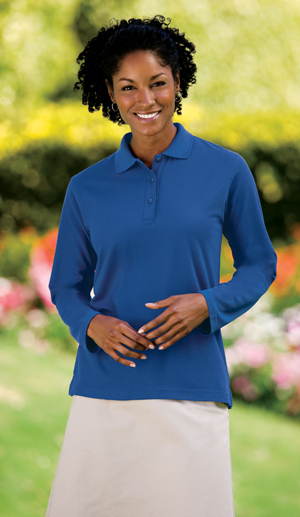 Port Authority® - Ladies Silk Touch™ Long Sleeve Sport