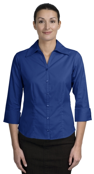 Port Authority® - Ladies 3/4 Sleeve Open Neck Blouse. L629 - Click Image to Close