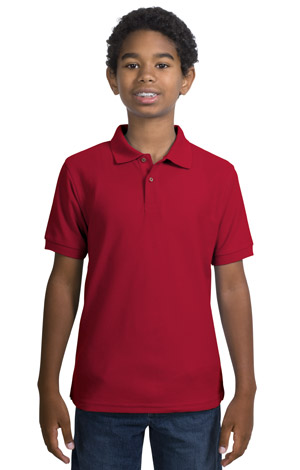 Port Authority® - Youth Silk Touch™ Sport Shirt. Y500 - Click Image to Close
