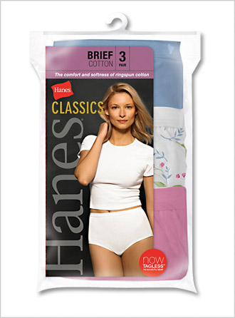 Womens Cotton Assorted Athletic Briefs - Click Image to Close