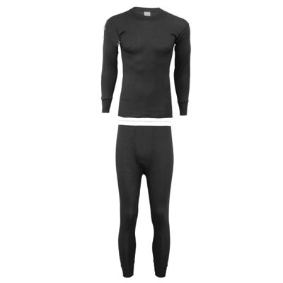 Black 100% Polypropylene Thermal Underwear