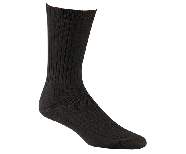 Work Socks Black Polypro Blend Odor Free Medical
