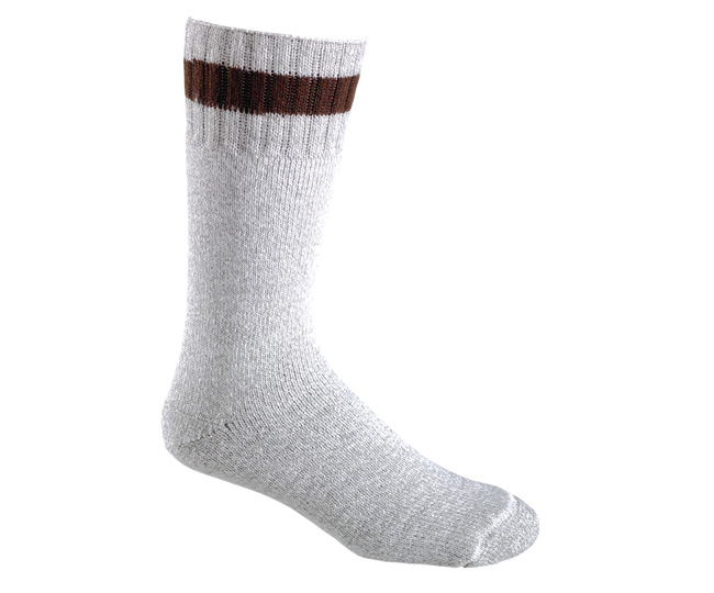 Mens Heavyweight Hollofill Wool Winter Sock