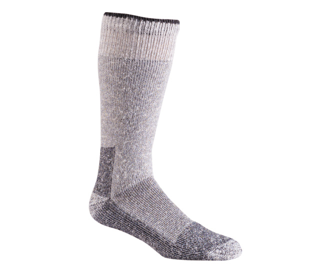 Grey Wool Blend Mid Calf Thermal Work Socks