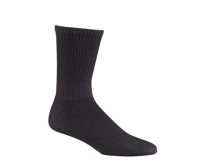 Work Socks Black Crew Length Acrylic Moisture Wicking